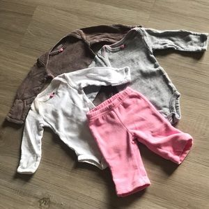 3 bodysuits and pants package